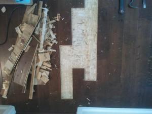 damaged boards removed